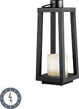Lampada da tavolo nera fiamma LED solare IP44 -
