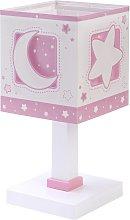 Lampada da tavolo per bambini Moonlight, rosa