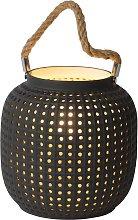 Lampada da tavolo Safiya di porcellana, antracite