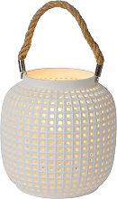 Lampada da tavolo Safiya di porcellana, bianco