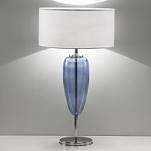 Lampada da tavolo Show Ogiva 82 cm, vetro blu