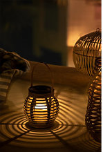 Lampada da tavolo solare da esterno Barus Natural