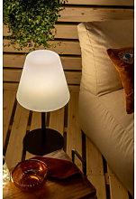 Lampada da tavolo solare da esterno Llahra Bianco