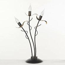 Lampada da tavolo stile classico in metallo