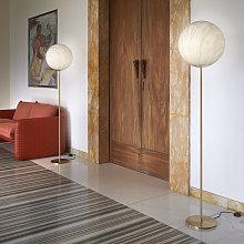 Lampada da tavolo terra stelo sfera effetto marmo