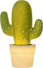 Lampada da tavolo verde Cactus decorativa