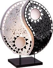 Lampada da tavolo Ying Yang mosaico nero