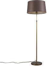 Lampada da terra bronzo paralume marrone 45 cm -