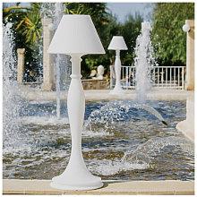 Lampada da terra design in polietilene bianco per