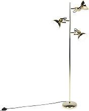 Lampada da terra design oro 3 luci - TOMMY