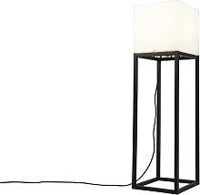 Lampada da terra esterno nera IP44 quadrata -