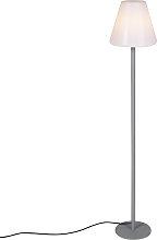 Lampada da terra moderna esterno grigia IP65 -