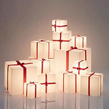 Lampada da terra tavolo cubo luminoso pacco Natale