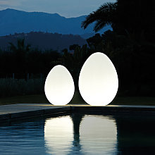 Lampada da terra uovo design moderno Slide Dino  