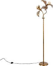 Lampada da terra vintage oro 2 luci - BOTANICA