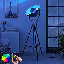 Lampada LED da terra Muriel WiFi nero/argento