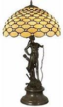 Lampada scultura in stile Tiffany 73 cm cm