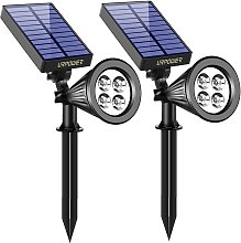 Lampada solare, impermeabile 2 in 1, 4 faretti