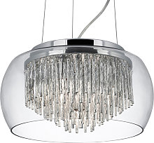 Lampada sospensione vetro Curva design glamour