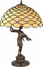 Lampada Tiffany con base scultura 62 cm cm