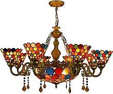 Lampadari Di Cristallo in Stile Tiffany,