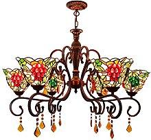 Lampadari in Stile Tiffany,uva Di Cristallo