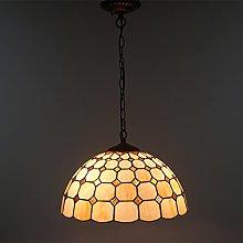 Lampadario in stile Tiffany con catena di