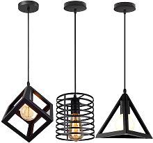 Lampadario Industriale da 3 Pezzi Lampadario