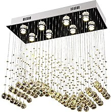 Lampadario moderno K9 cristallo goccia di pioggia