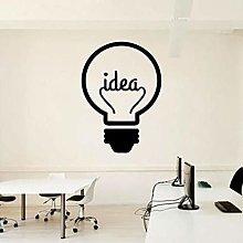Lampadina creativa Adesivo murale Office Team