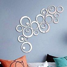 LangRay 24pcs Specchio Wall Sticker Cerchi Round