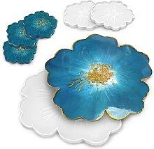 Langray - 6 pezzi stampo in silicone fiore, stampo