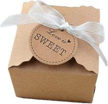 Langray - Scatola regalo in carta kraft in stile