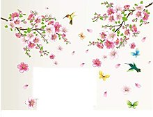 LangRay XXL Wall Sticker Peach Blossom Flowers