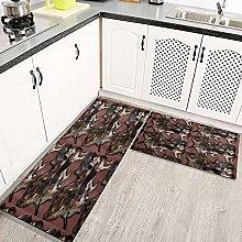 Lanqianwan 2 tappetini da Cucina Anti-Antiscivolo
