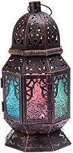 Lanterna a candela Lampada a vento marocchina in