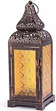 Lanterna a candela Vetro color bronzo Vecchia