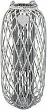 Lanterna In Vimini Grigia Diametro 39 X 95 Per