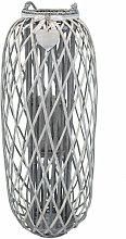 Lanterna In Vimini Grigia Diametro 40 X 106 Per