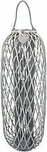 Lanterna In Vimini Grigia Diametro 44 X 115 Per