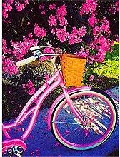Lausra Kit Pittura Diamante 5D Bicicletta Rosa Fai