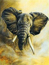 Lausra Kit Pittura Diamante 5D Elefante Fai da Te