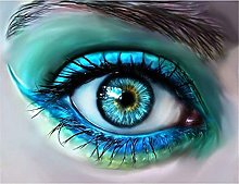 Lausra Kit Pittura Diamante 5D Occhi di Bellezza