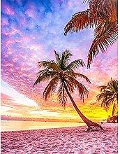 Lausra Kit Pittura Diamante 5D Spiaggia Rosa Fai