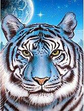Lausra Kit Pittura Diamante 5D Tigre Fai da Te 5D