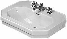 Lavabo 1930, 60x41cm, 1 foro per rubinetto,