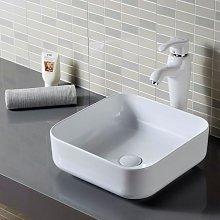 Lavabo da appoggio in ceramica bianca roma