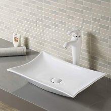 Lavabo da appoggio in ceramica bianca torino