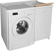 Lavatoio E Coprilavatrice 109x60x89cm Asse In