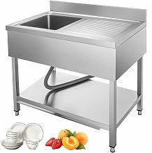 Lavello Cucina con Gocciolatoio Destra 100x60 cm